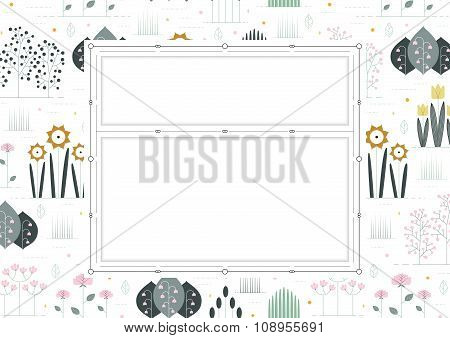floral background with double border