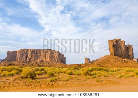 The Camel Butte Is A Giant Sandstone Formation In The Monument Valley Made Of Sandstone