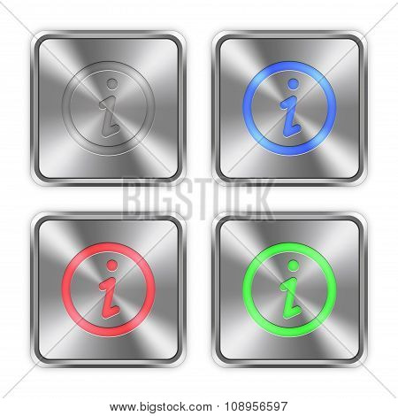 Color Information Steel Buttons