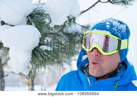 Snowboarder Having Fun