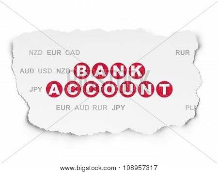 Banking concept: Bank Account on Torn Paper background