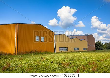 Modern Commercial Buildings In A Newly Devoloped Industrial Area