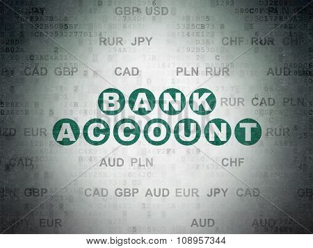Currency concept: Bank Account on Digital Paper background