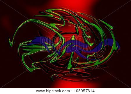 abstract background line, color graffiti  and glass effect