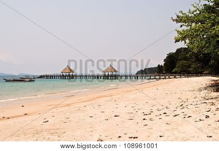Independence beach in Cambodia