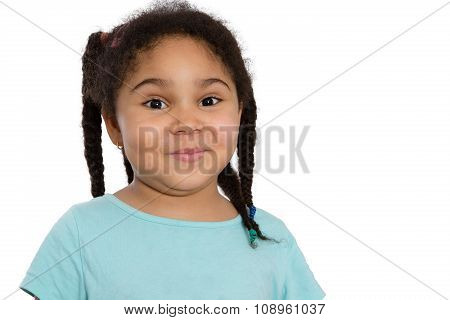 Cute Little African American Girl