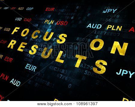Finance concept: Focus on RESULTS on Digital background