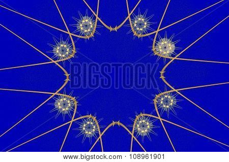 Abstract Circular  Fractal Artwork Background.
