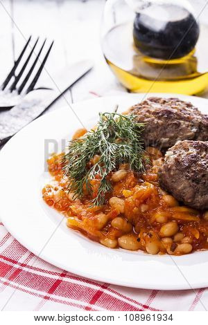 Beef Meatballs And Bean Stew