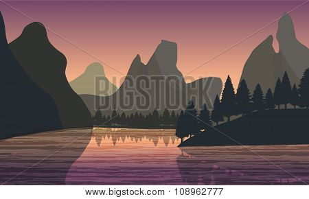 Flat Landscape View