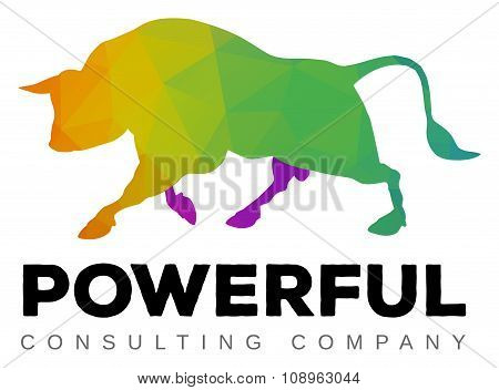 Moving Bull Logo Template