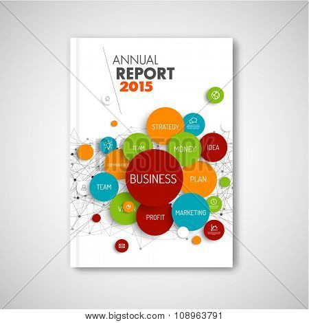 Modern Vector abstract brochure / report design business template