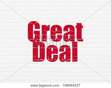 Business concept: Great Deal on wall background