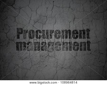 Finance concept: Procurement Management on grunge wall background