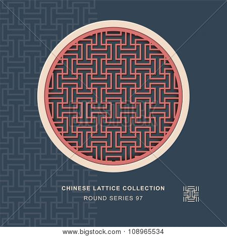 Chinese window tracery round frame 97 rectangle geometry