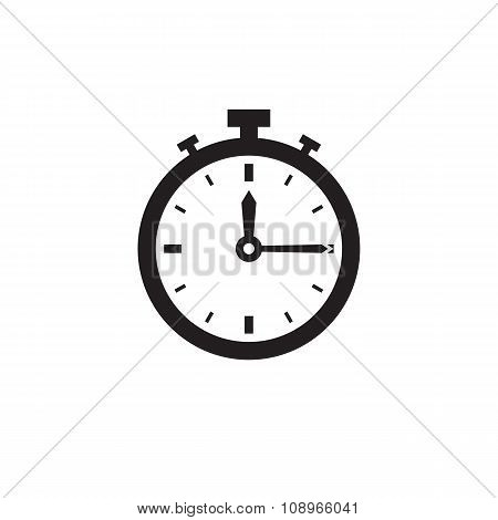 Watch vector icon sign. Clock vector icon sign. Timer vector icon sign. Design element.