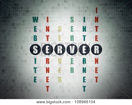 Web development concept: Server in Crossword Puzzle