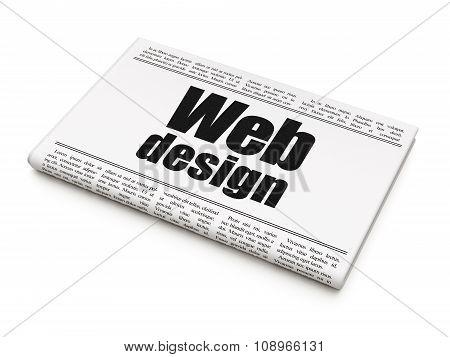 Web design concept: newspaper headline Web Design