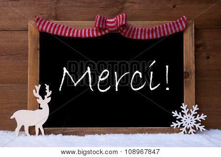 Christmas Card, Snowflake, Loop, Merci Mean Thank You, Snow