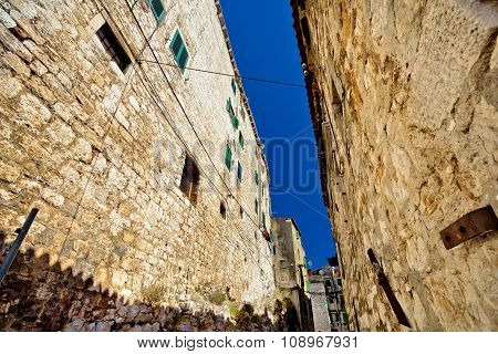 Old Stone Street Of Sibenik