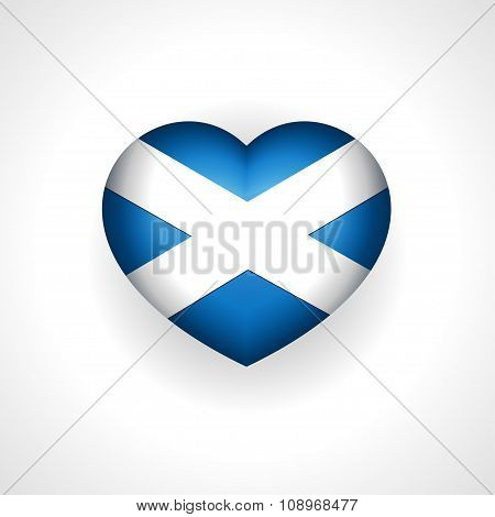 Scotland heart with flag