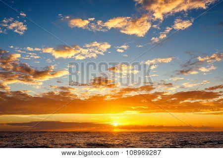 Beautiful Cloudscape Over The Caribbean Sea