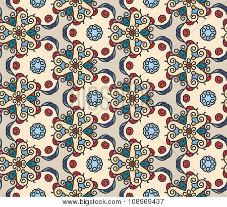 Mono line pattern retro style  for your design.