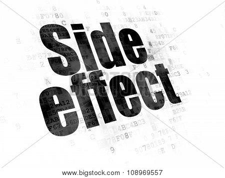 Healthcare concept: Side Effect on Digital background