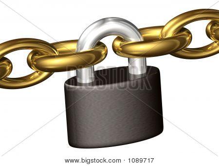 Padlock Keeping Chains Toghether
