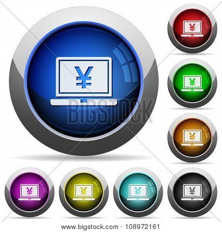 Laptop With Yen Button Set
