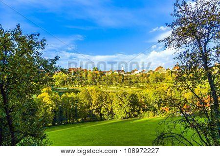 Panorama Of Rothenburg Ob Der Tauber