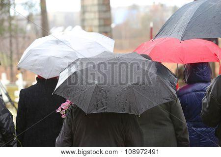 People Under Umbrella