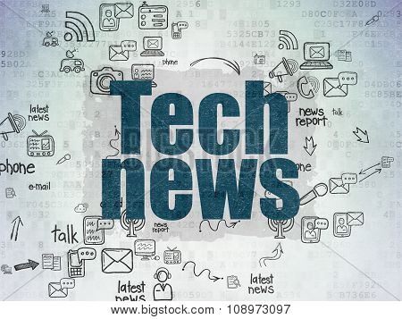 News concept: Tech News on Digital Paper background