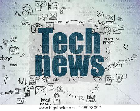 News concept: Tech News on Digital Paper background