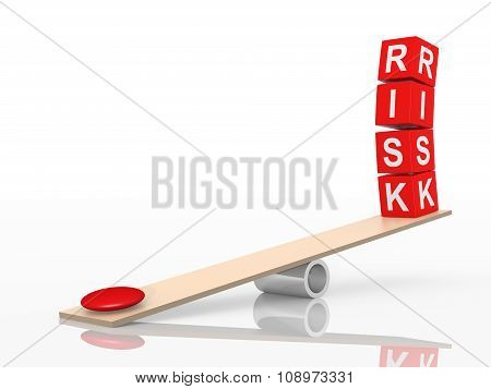 Balance Of Risks. Abstract Concept. 3D Illustration.