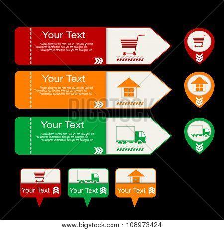 Online Shopping Symbols