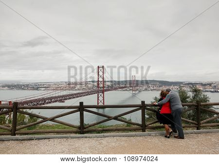 Couple enjoying view