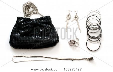 Clutch Bag With Accessories