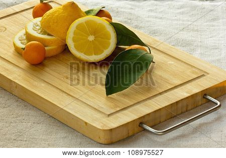 lemons on the kitchen blackboard