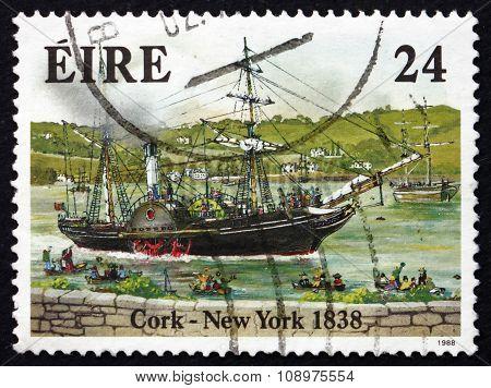 Postage Stamp Ireland 1988 Steamship Sirius