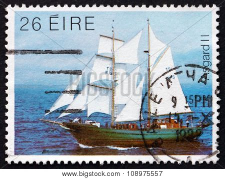 Postage Stamp Ireland 1982 Asgard Ii, Training Ship