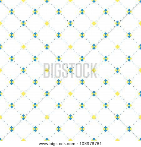 Sqaures and diamonds seamless pattern