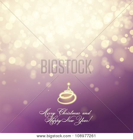 Merry Christmas and Happy New Year abstract vector card
