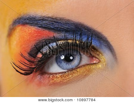 Make-up of a very beautiful woman eye
