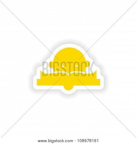 icon sticker realistic design on paper lesson