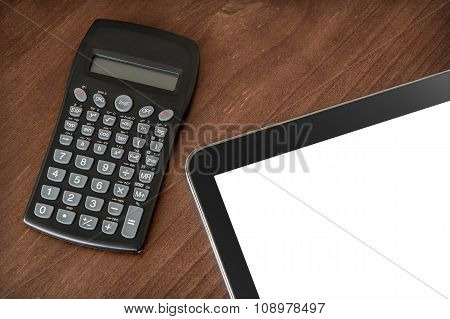Business Work With Tablet & Calculator #2