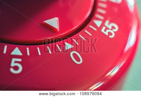 Macro Of A Kitchen Egg Timer - 0 Minutes - 1 Hour