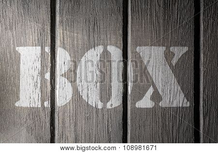 Front Macro Of Wood Panels With A Box Logo