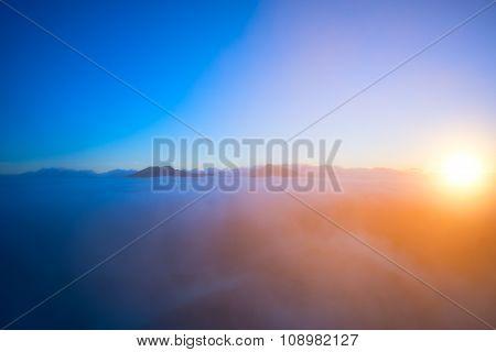 Fantastic Cloudscape And Sun.