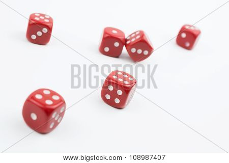 Six Dices Besides In A White Box #2